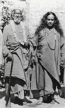 Swami Sri Yukteswar with Paramahansa Yogananda